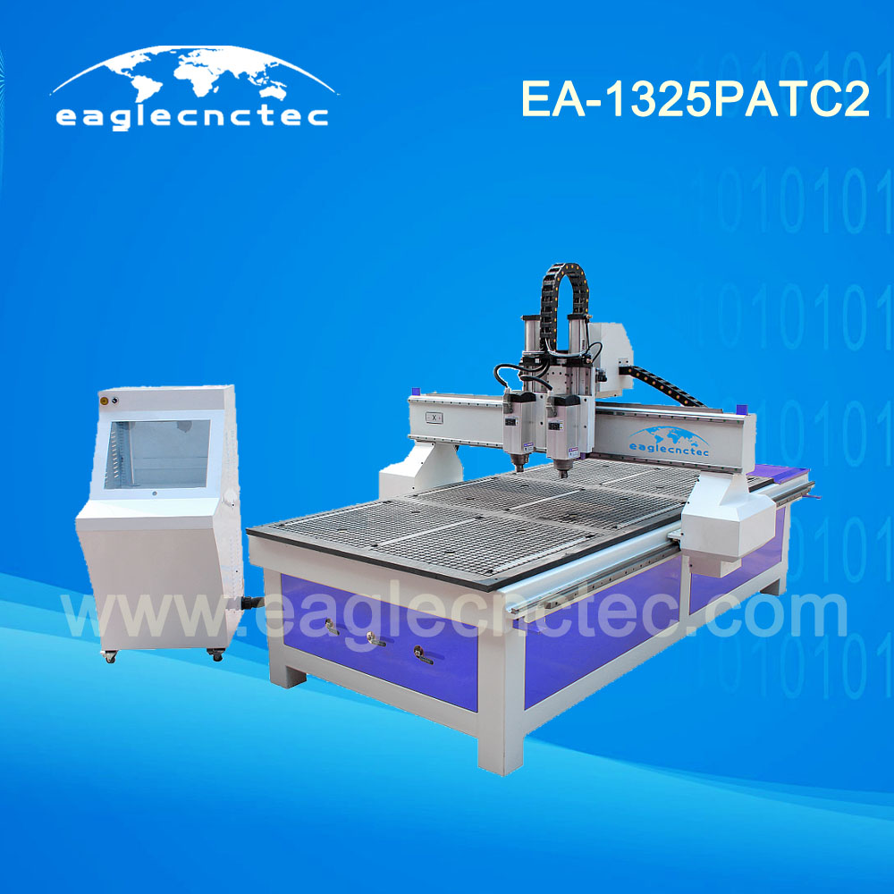 1325 Wood Door Making CNC Router Machine with Auto Tool Changer by Pneumatic Cylinder