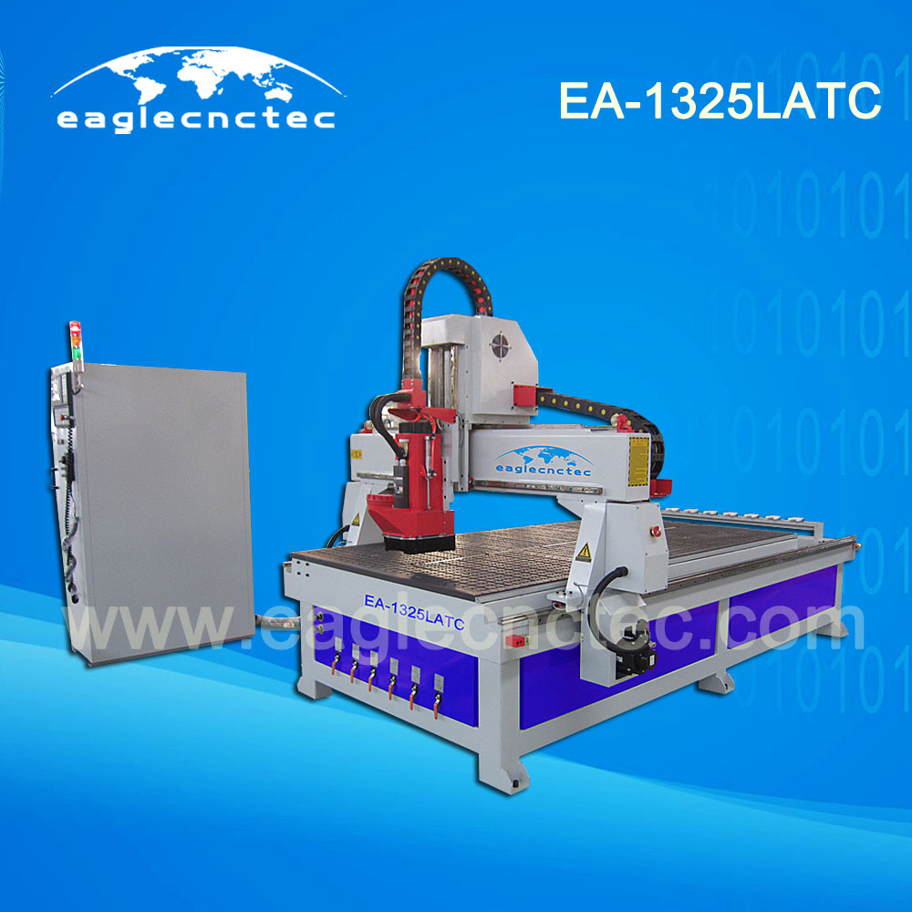 1325 ATC CNC Router Machines Center for Modern Furniture Making 1300x2500mm Linear Tool Changer