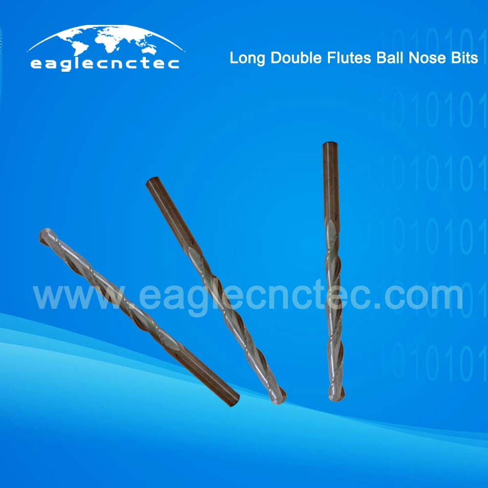 Long CEL Ball Nose Spiral Cut Router Bits For Deep Relief