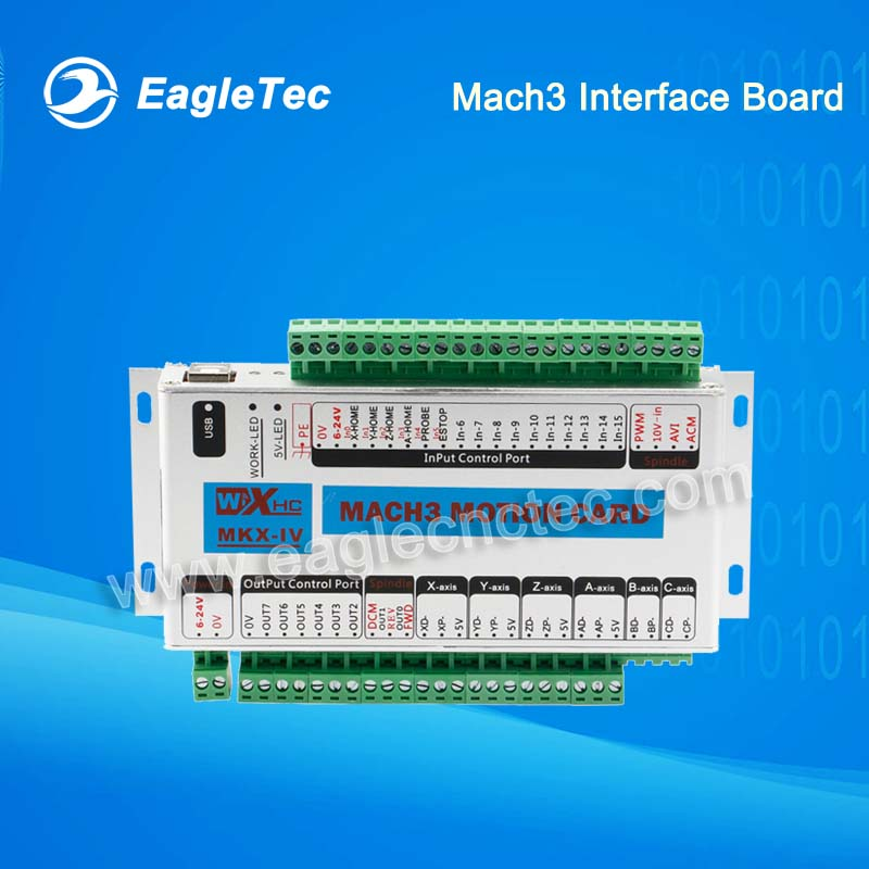 USB CNC Controller Mach3 Interface Board CNC Router Motion Card