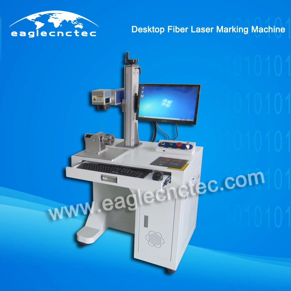 Stand 20W Fiber Laser Marking Machine Nameplate Engraving Machine