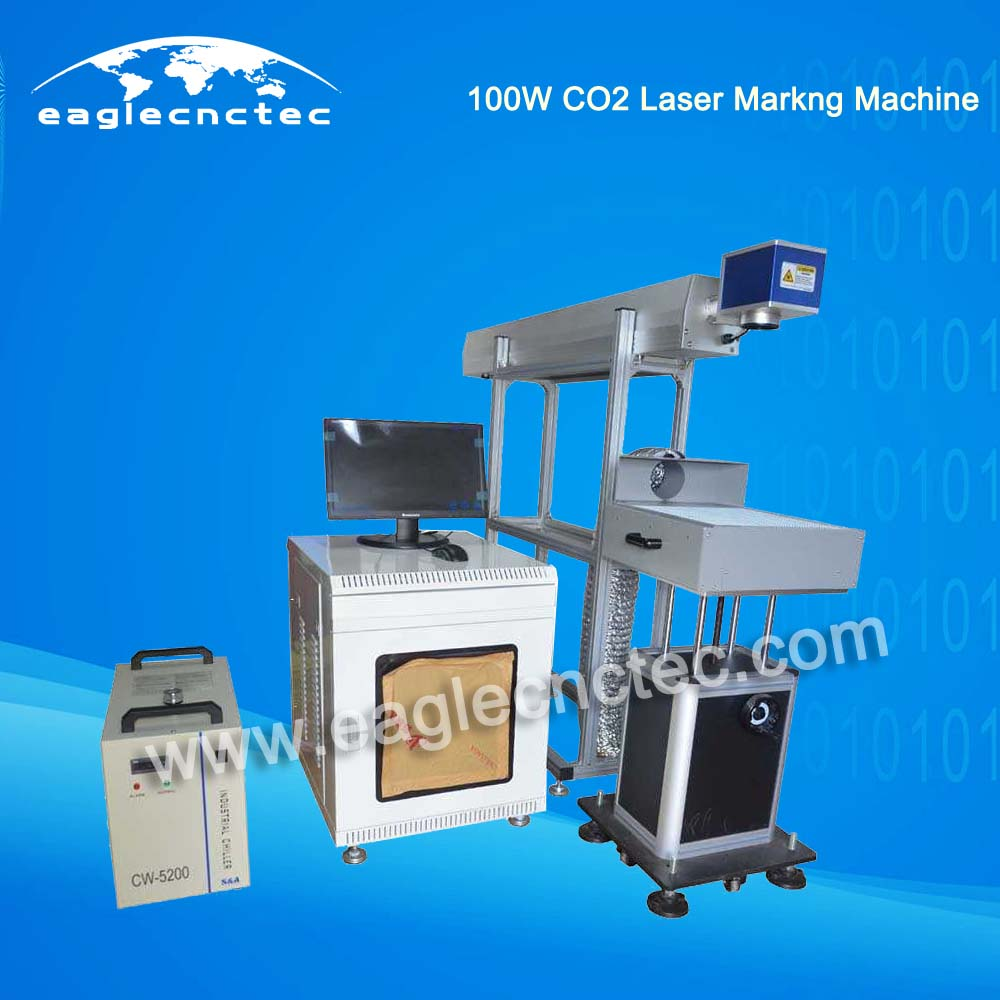 CNC Marking Laser Machines with 100W CO2 Glass Tube