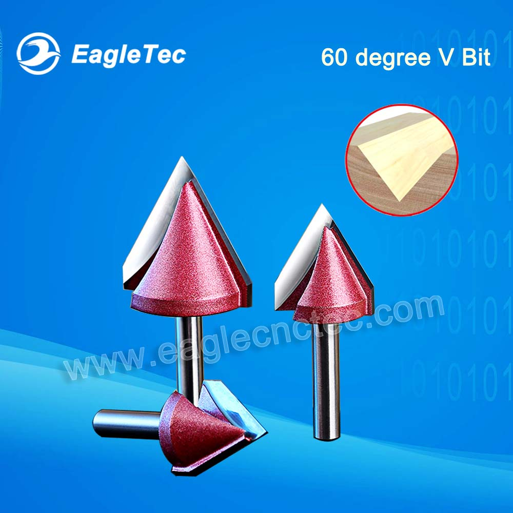 60 Degree Chamfer Router Bit With 6mm Shank For Notch Cutting On Wood