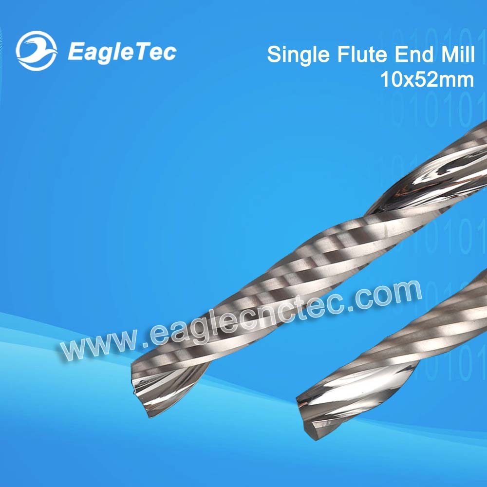 10mm Single Flute End Mill Up Cut Spiral Cutter For Wood Size 10x52mm