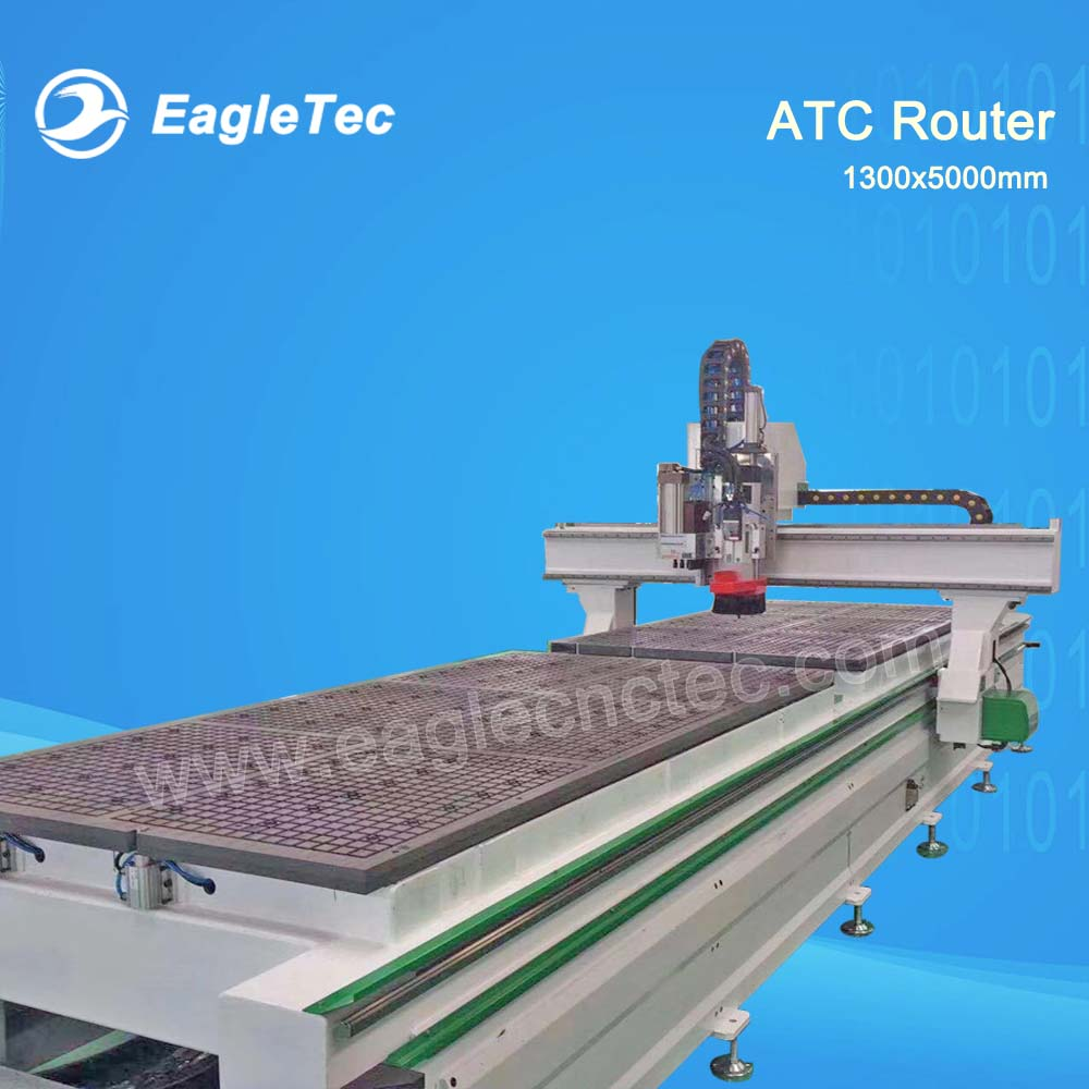 Most Efficient CNC Machine for Panel Furniture / ATC CNC with Double Worktable / Boring Head / 1300x5000mm