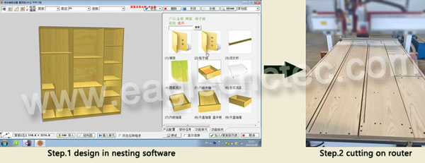 cnc wood cutter with nesting software
