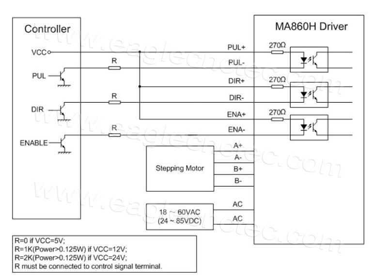 Microstep Driver Leadshine Ma860h Dm1182 Stepper Motor Driver