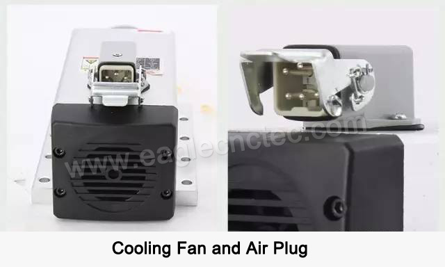 spindle cooling fan and air plug