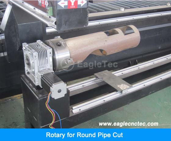 Cnc Tube Cutter For Round Pipe Parting And Hole Cutting