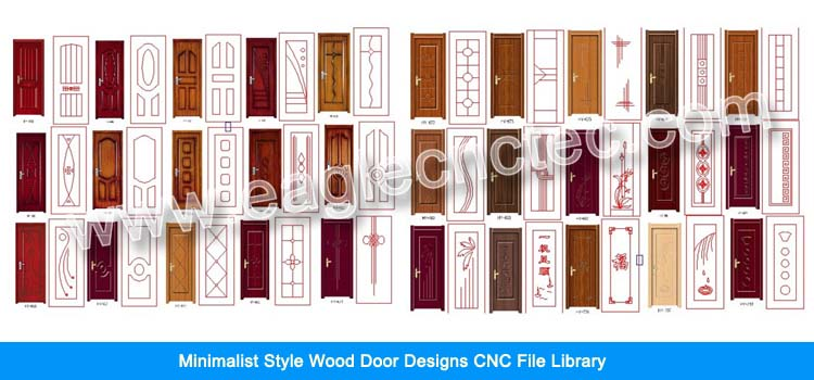 Minimalist Style Door Design Files Library for CNC Router Use