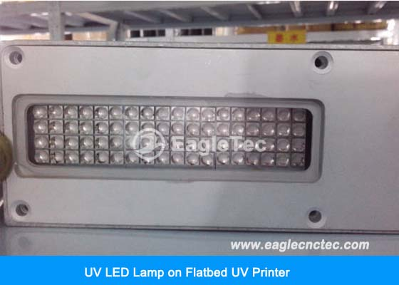 UV LED lamp on flatbed uv printer