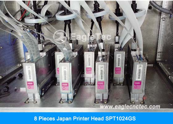 8 pieces japan printer head spt1024gs on uv flatbed printer