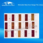 Minimalist Style Wood Door Design Files Library for CNC Router Use
