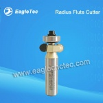Radius Flute Cutter with Top Bearing for Wood Lathe Broaching