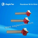 Metric Roundover Router Bit With Popular Size 6x16mm for Laminate / Hard Wood
